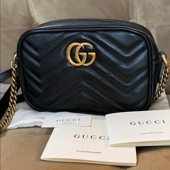Gucci Bags Marmont Matelasse Mini Camera Bag Crossbody Poshmark